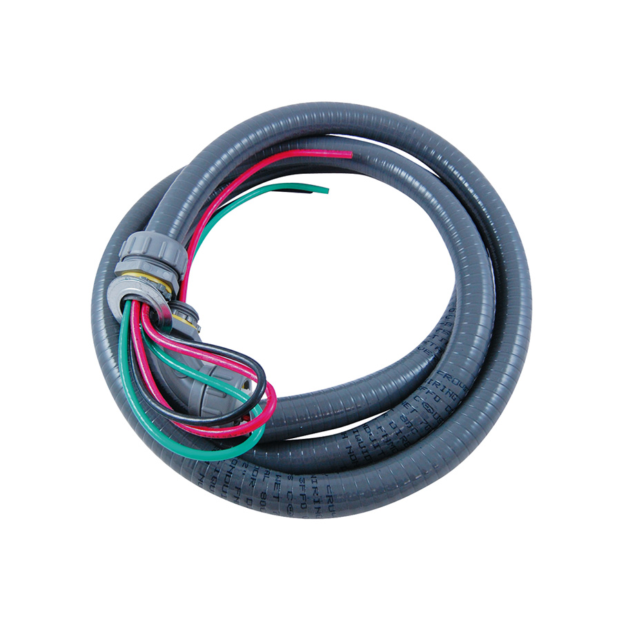 "A/C Condenser Whip 3/4"" x 6 Ft, #8 THHN Wire"