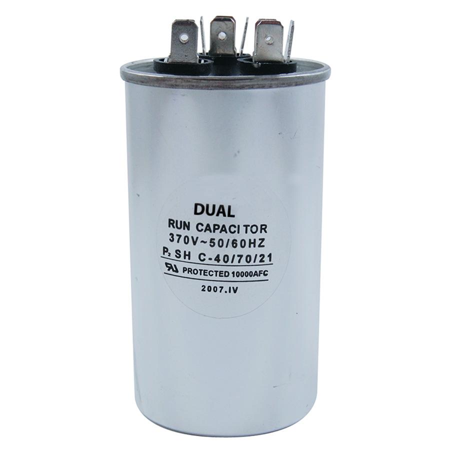 370V Round Dual Capacitor 50/5 MFD