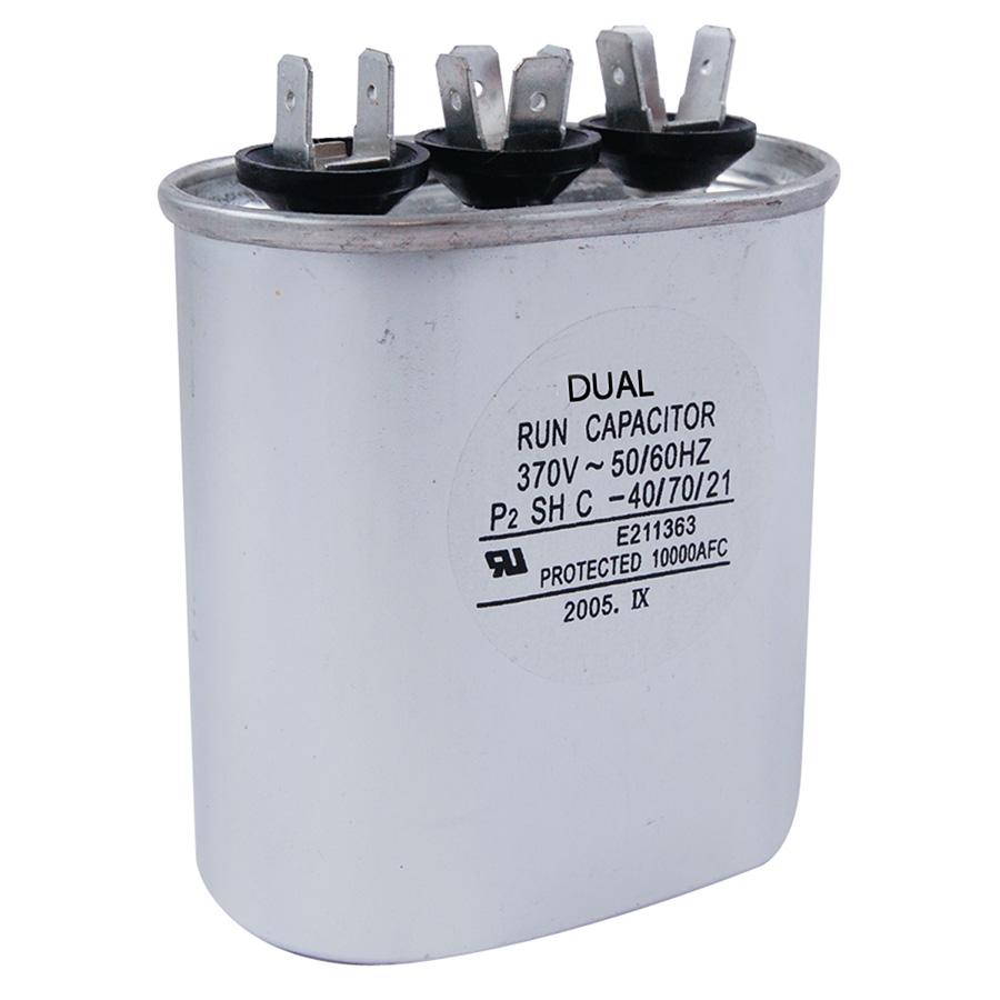 370V Oval Dual Capacitor 50/5 MFD