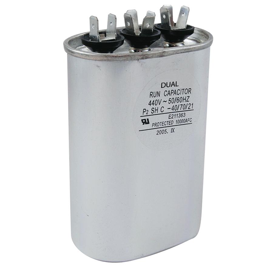 440V Oval Dual Capacitor 40/5 MFD