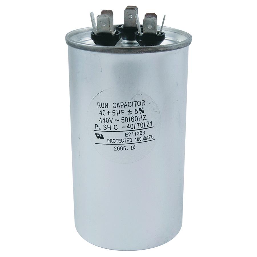 440V Round Dual Capacitor 40/5 MFD