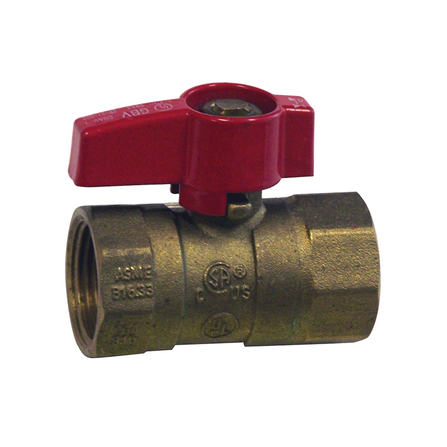 "Brass Gas Shut Off Valve 3/4"" FIP"