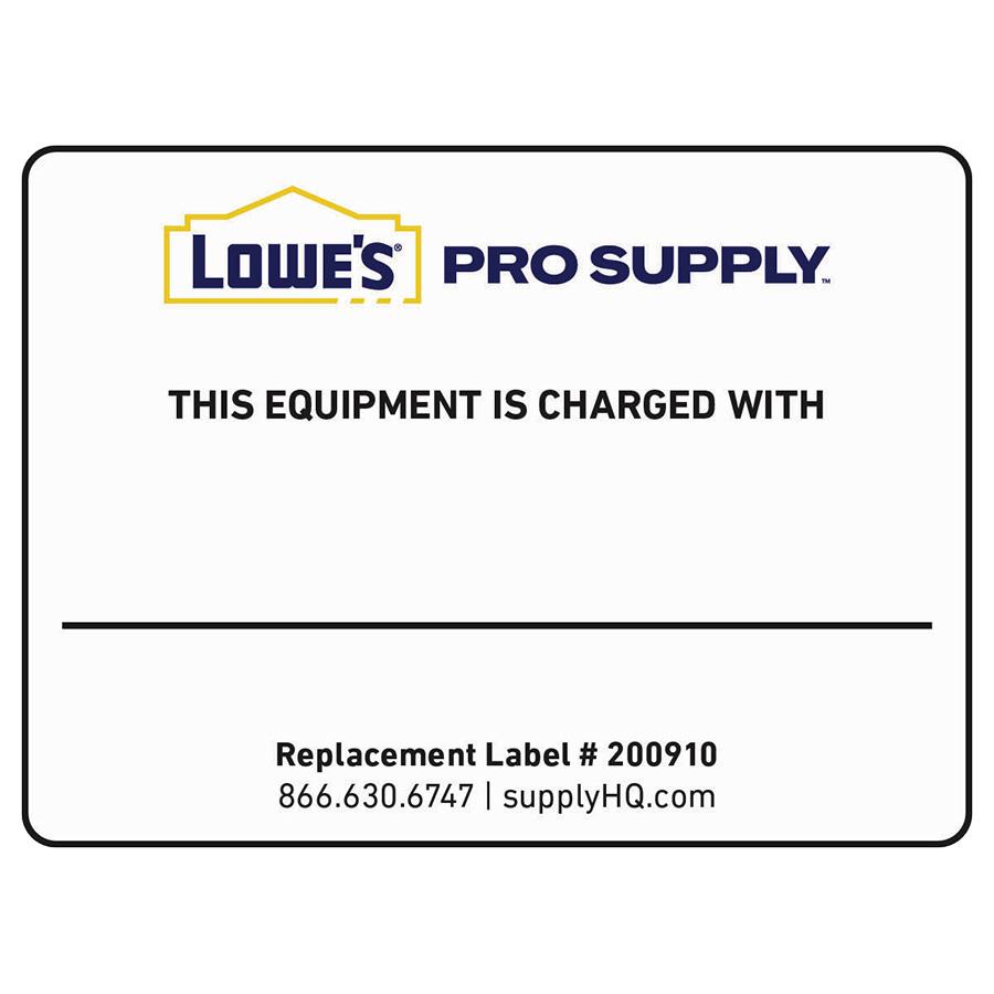 Blank Refrigerant ID Labels