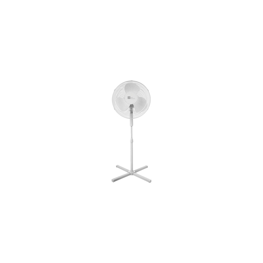"16"" White Oscillating Pedestal Fan"