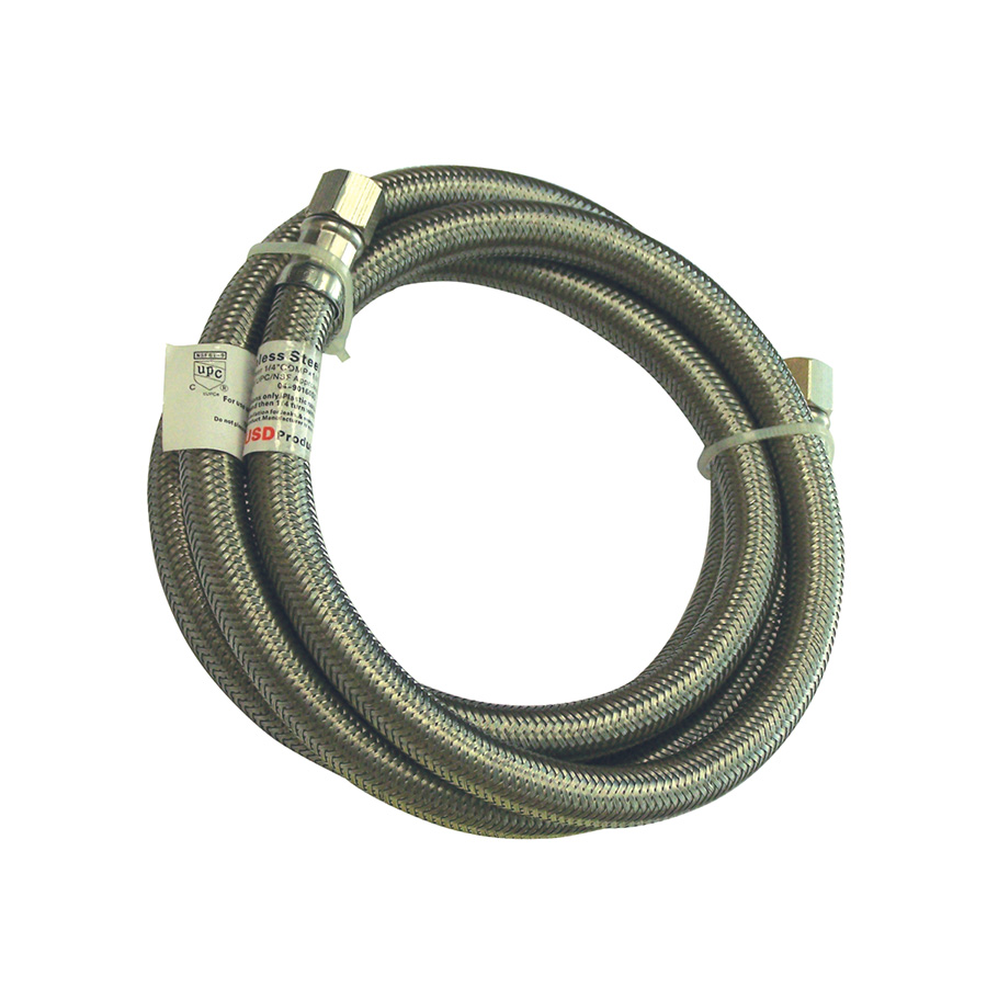 """60"""" Stainless Steel Icemaker Supply Line"""