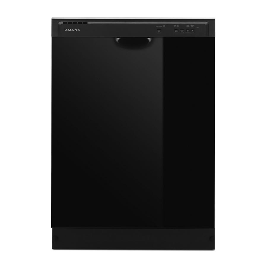 Amana Black 3-Cycle Dishwasher
