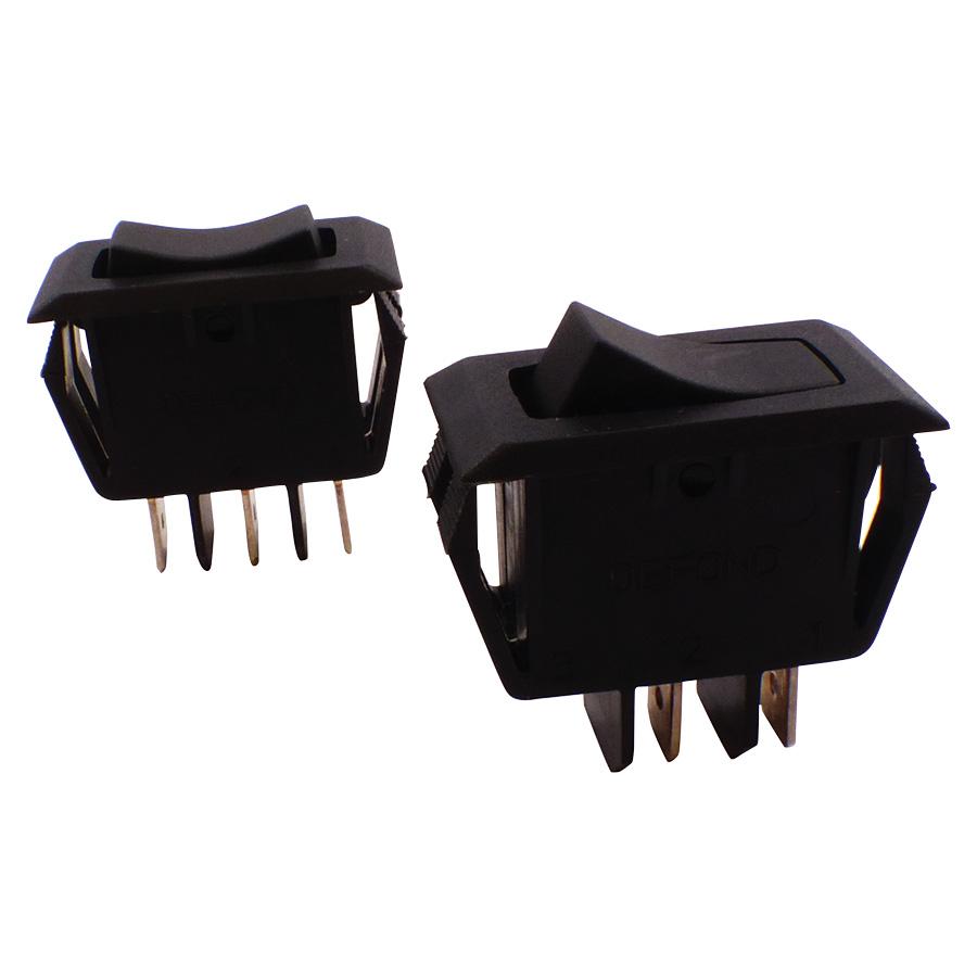 Broan Black Range Hood Fan & Light Switch Set