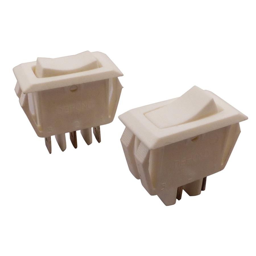 Broan White Range Hood Fan & Light Switch Set