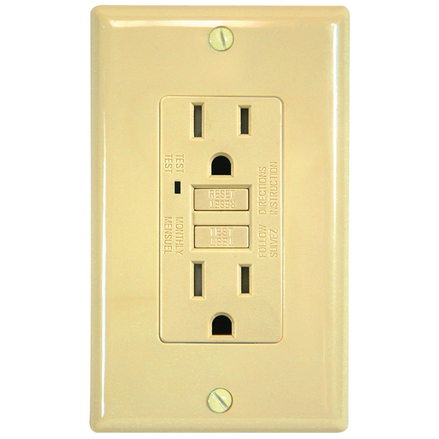 Bright Way GFCI — 15 Amp Ivory