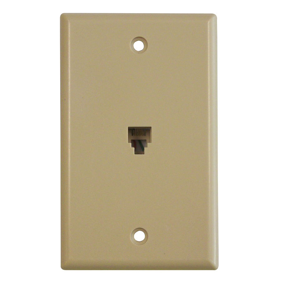 Black Point Phone Jack Wall Plate Ivory