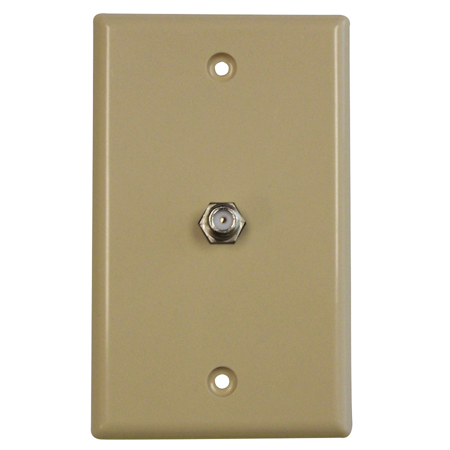 Black Point TV/Cable Wall Plate Ivory