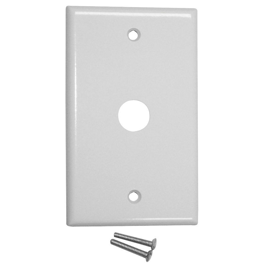 Leviton 1 Gang Cable Telephone Wall Plate White