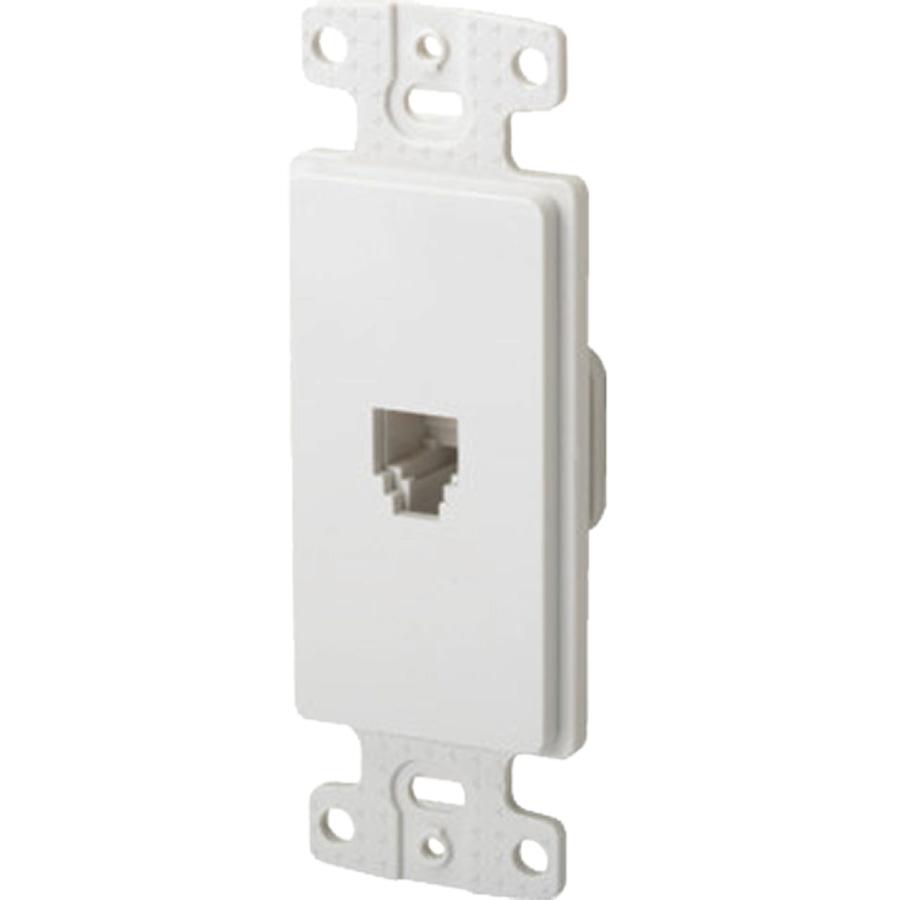Black Point Deco White Wall Jack Phone