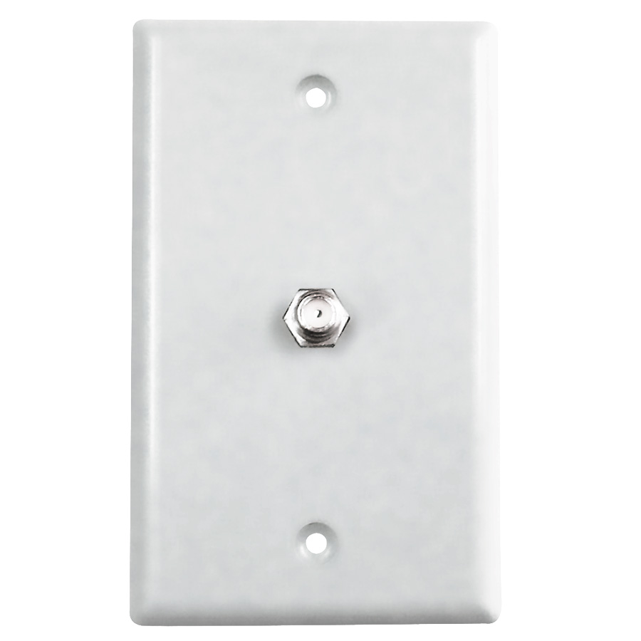 Black Point TV/Cable Wall Plate White