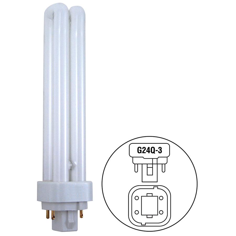 26W Quad CFL Bulb G24d-3 Base 4100K