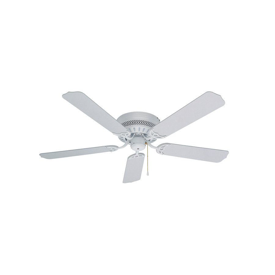 "52"" 5-Blade Hugger Fan White"
