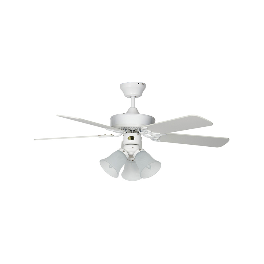 "42"" 5-Blade Dual Mount Fan with Light Kit White"