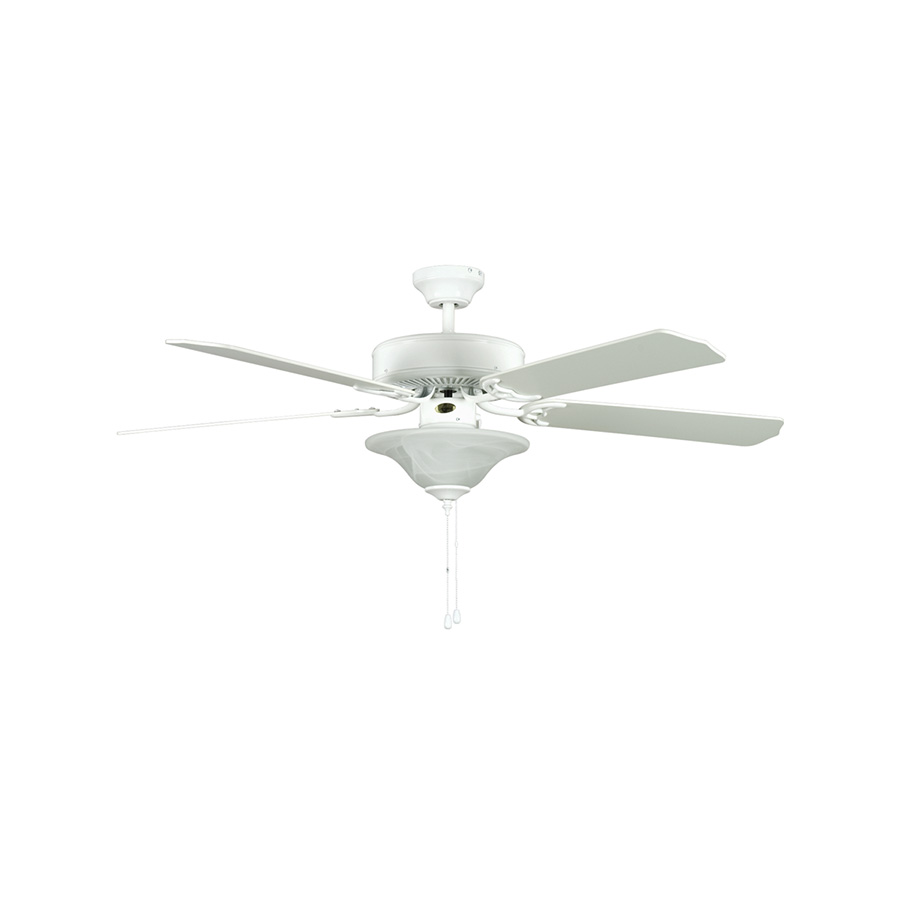 "52"" 5-Blade Dual Mount Fan with Light Kit White"