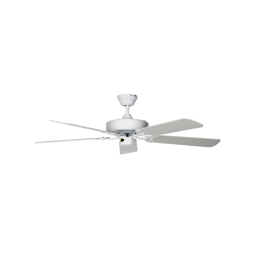 """52"""" 4 or 5-Blade Dual Mount Ceiling Fan White"""