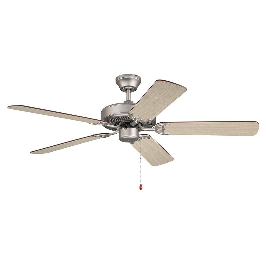 "52"" 4 or 5-Blade Dual Mount Ceiling Fan Satin Nickel"