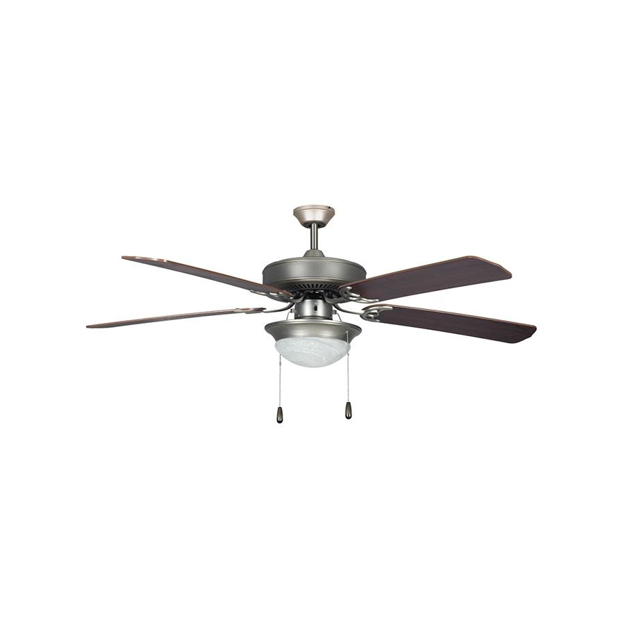 "52"" 5-Blade Dual Mount Fan with Light Kit Satin Nickel"