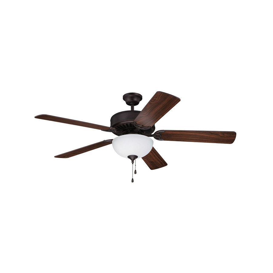 "52"" 5-Blade Ceiling Fan with Light Kit Oil Rubbed Bronze"