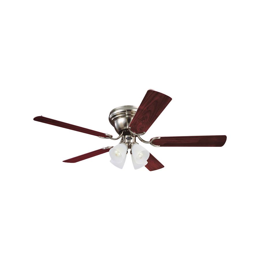 "52"" 5-Blade Hugger Ceiling Fan with LED Light Kit Brushed Nickel"