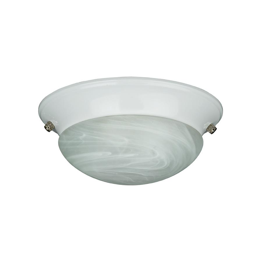 Alabaster Glass Twist-On Light Kit White