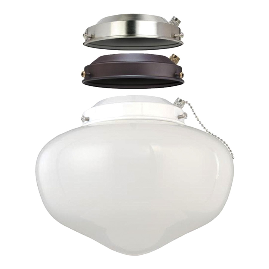 3-in-1 LED Schoolhouse Ceiling Fan Light Kit
