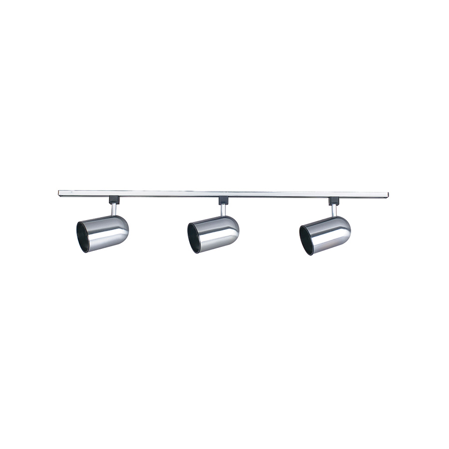 "Bright Satin Nickel Track Light 48"" 3-Light"