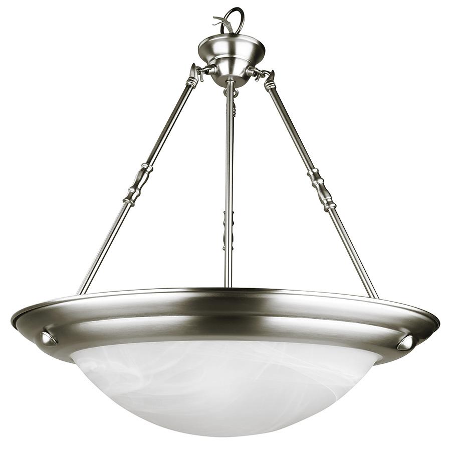 3-Light Designer Pendant Fixture Satin Nickel