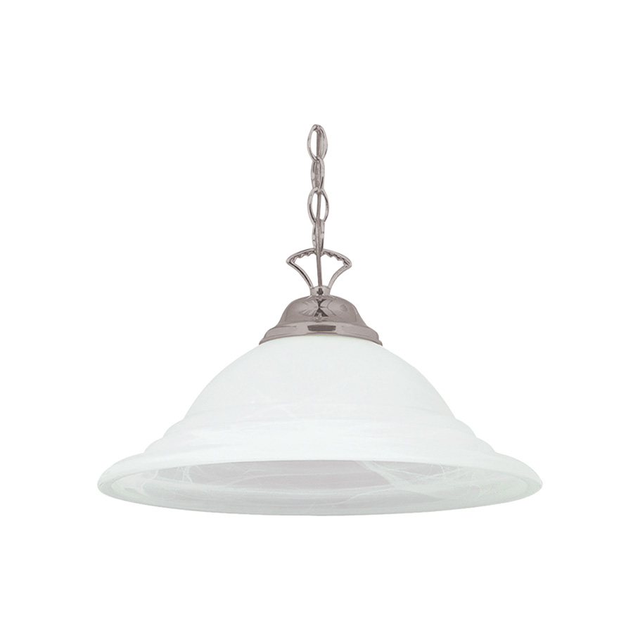 1-Light Pendant Fixture Satin Nickel