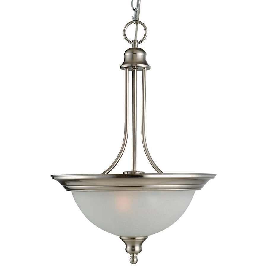 Bristol 2-Light Pendant Satin Nickel