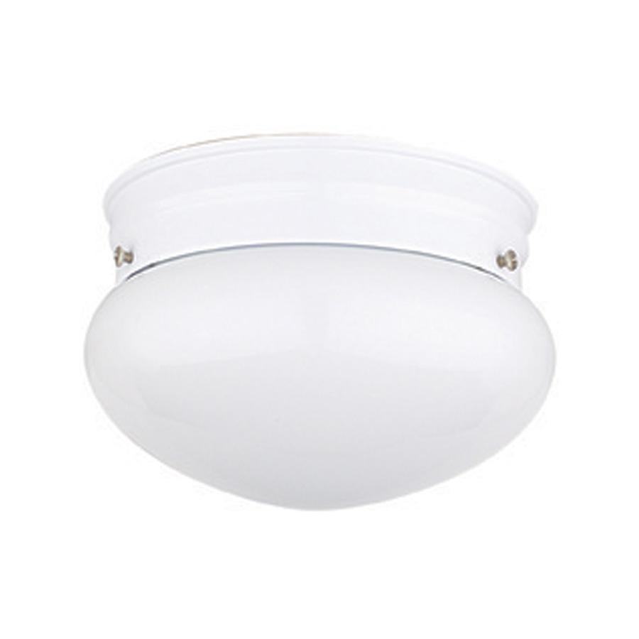 "6"" Mushroom Ceiling Fixture White"