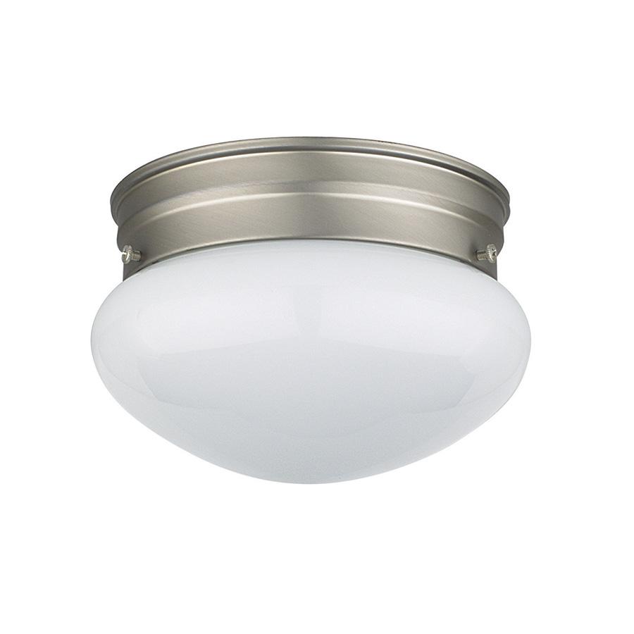 """6"""" Mushroom Ceiling Fixture Satin Nickel"""