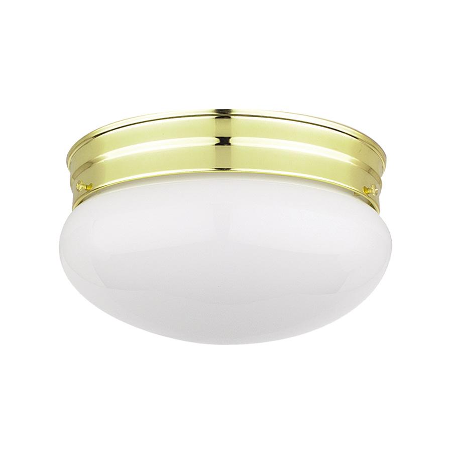 "8"" Mushroom Ceiling Fixture Polished Brass"