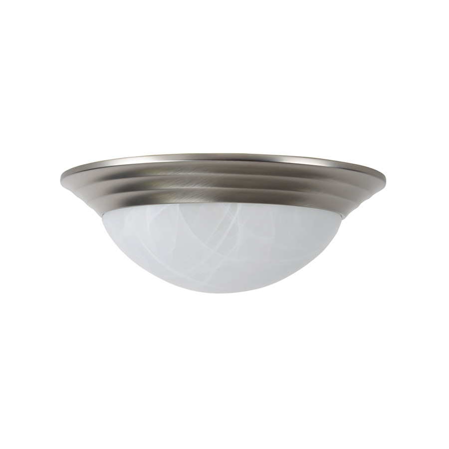 "12"" Ceiling Dome Fixture 2-Bulb Satin Nickel"