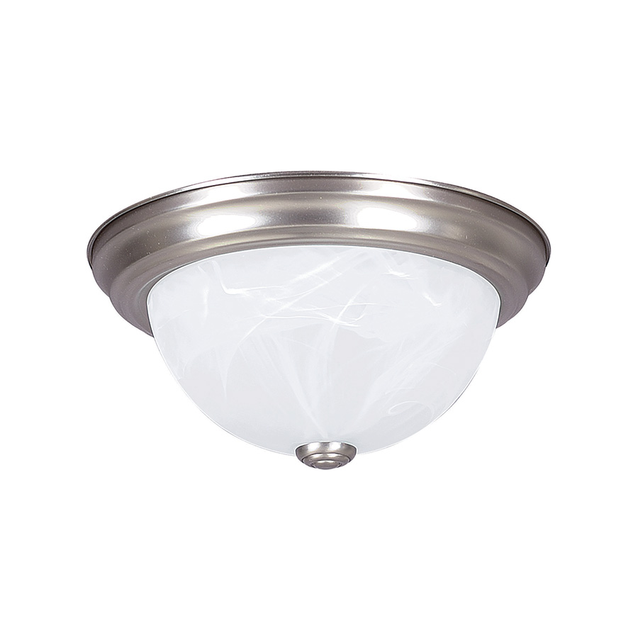"13"" Ceiling Dome Fixture 2-Bulb Satin Nickel"