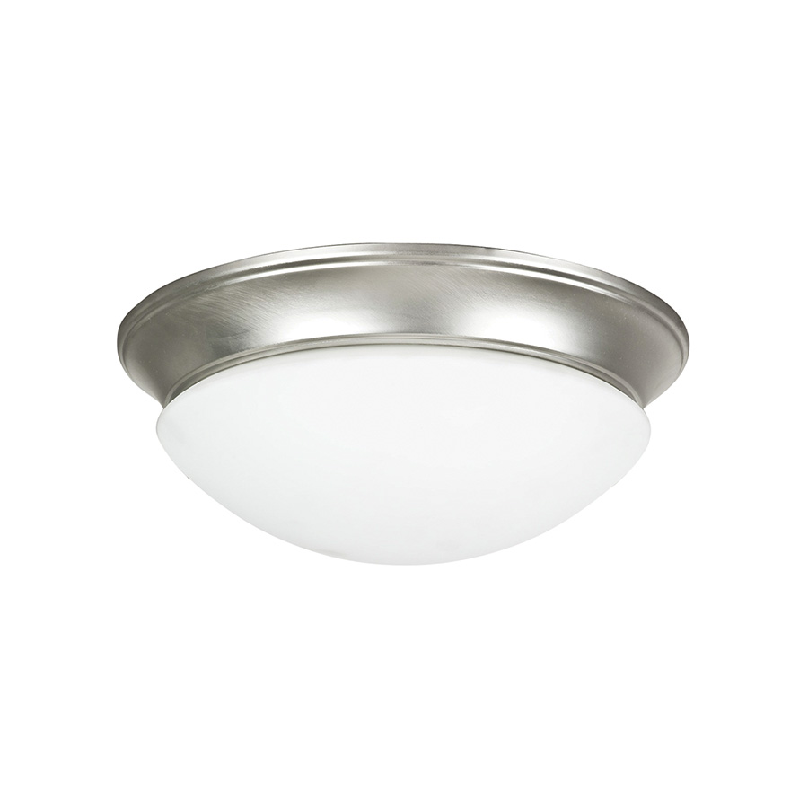 """12"""" Ceiling Dome Fixture 2-Bulb Satin Nickel"""