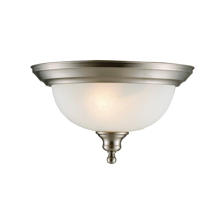 Bristol 2-Light Ceiling Fixture Satin Nickel