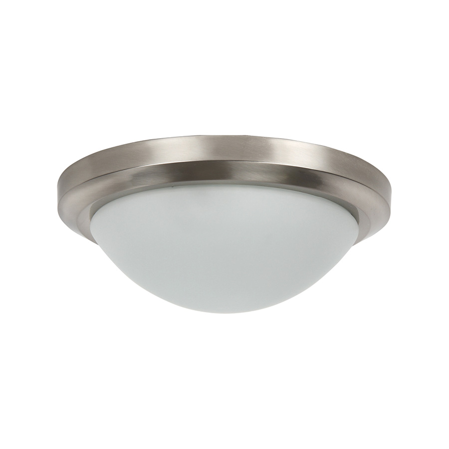 "15"" Flush Mount Fixture 3-Bulb Bright Satin Nickel"
