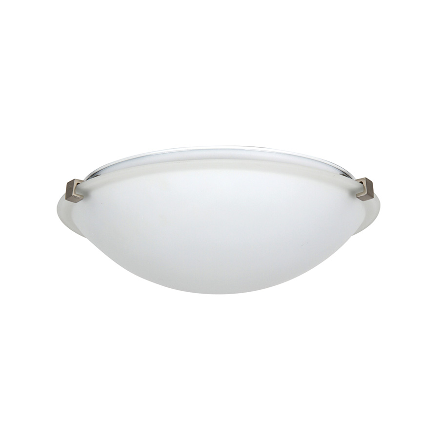 "16"" Flush Mount Fixture Bright Satin Nickel"