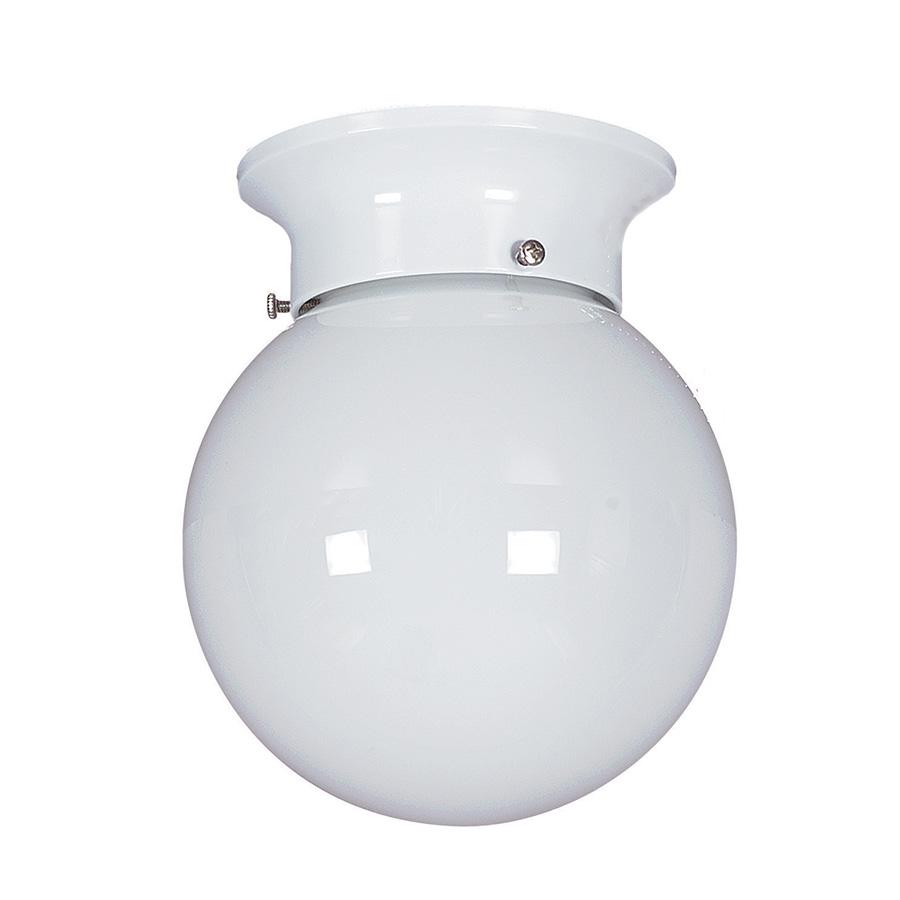 """6"""" Opal Glass Globe Ceiling Fixture White"""