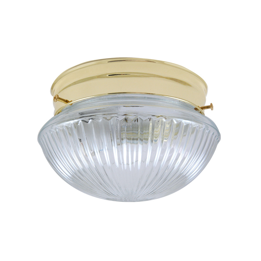 "6"" Mushroom Ceiling Fixture Polished Brass"