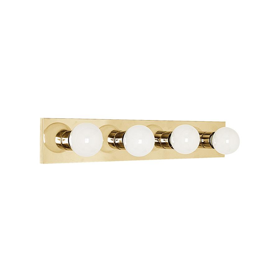 """24"""" 4-Light Polished Brass Vanity Strip"""