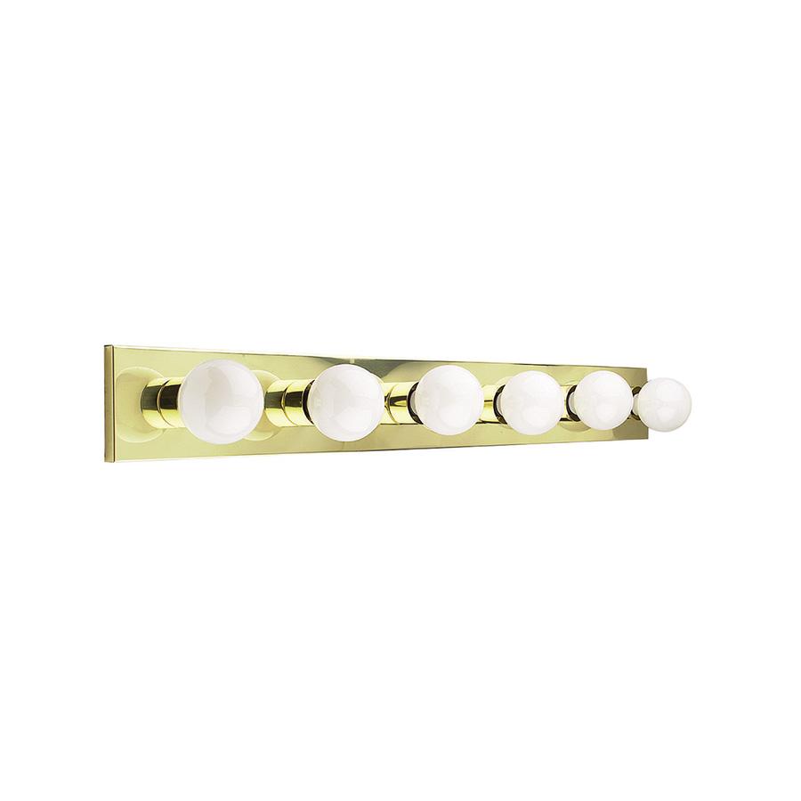 """36"""" 6-Light Polished Brass Vanity Strip"""