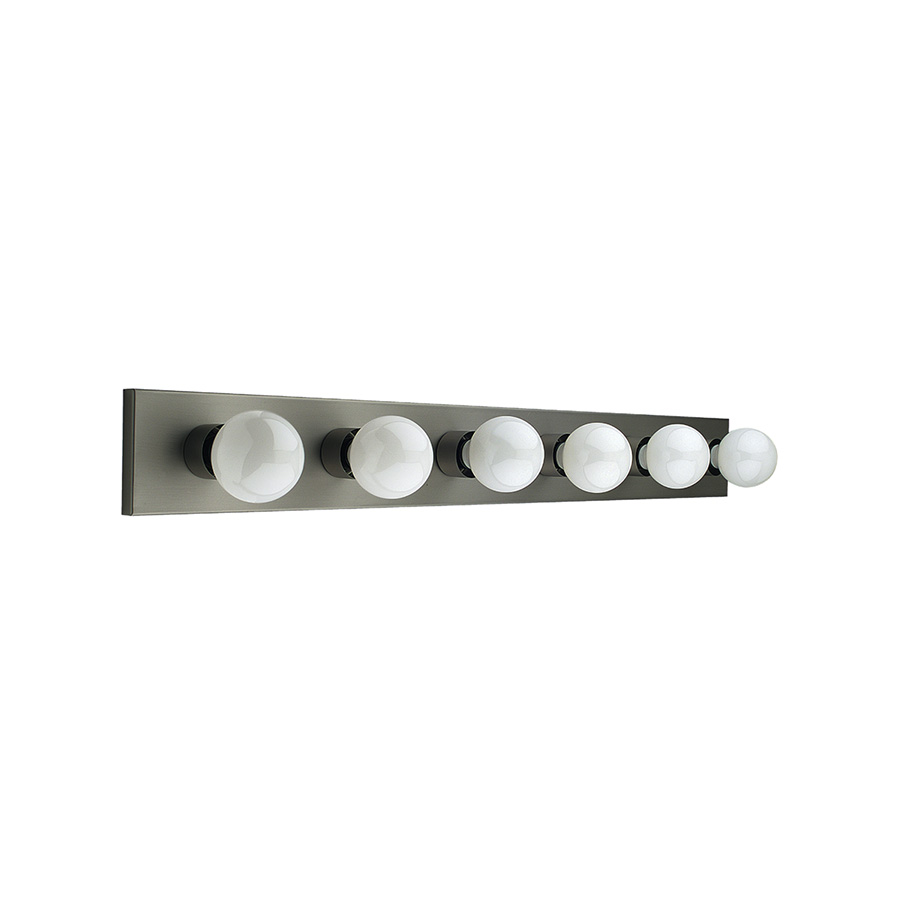 "36"" 6-Light Satin Nickel Vanity Strip"