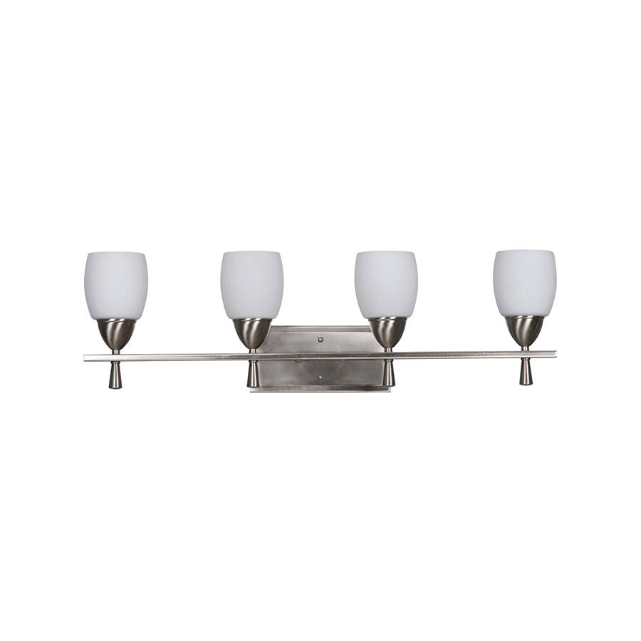 Bristol 4-Light Bright Satin Nickel Vanity Fixture