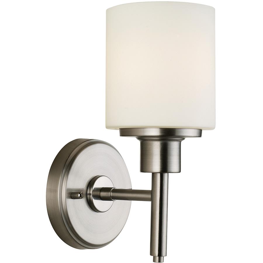 Aubrey 1-Light Satin Nickel Vanity/Wall Fixture