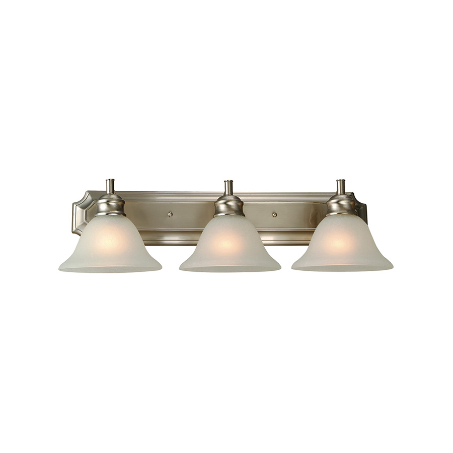 Bristol 3-Light Satin Nickel Vanity Fixture